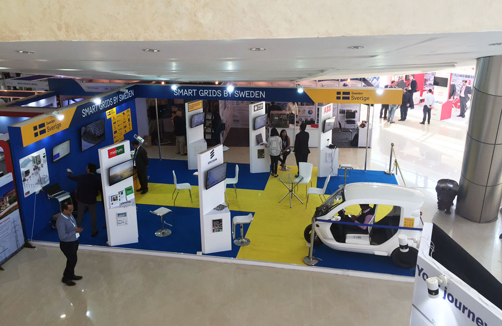 Sweden's stand at India Smart Grid Week 2017. Photo.