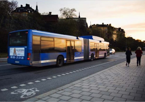 City bus in Gothenburg. Photo.