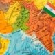 Map of India. Photo.