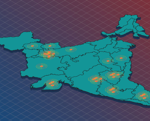 Map of India. Illustration.
