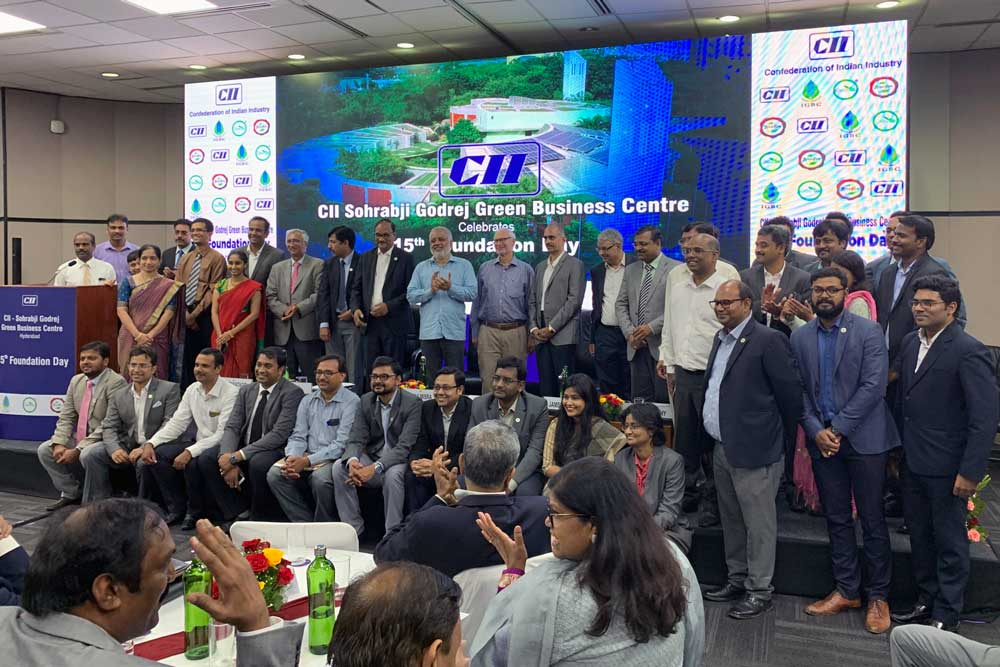 About forty members of staff at CII. Photo.