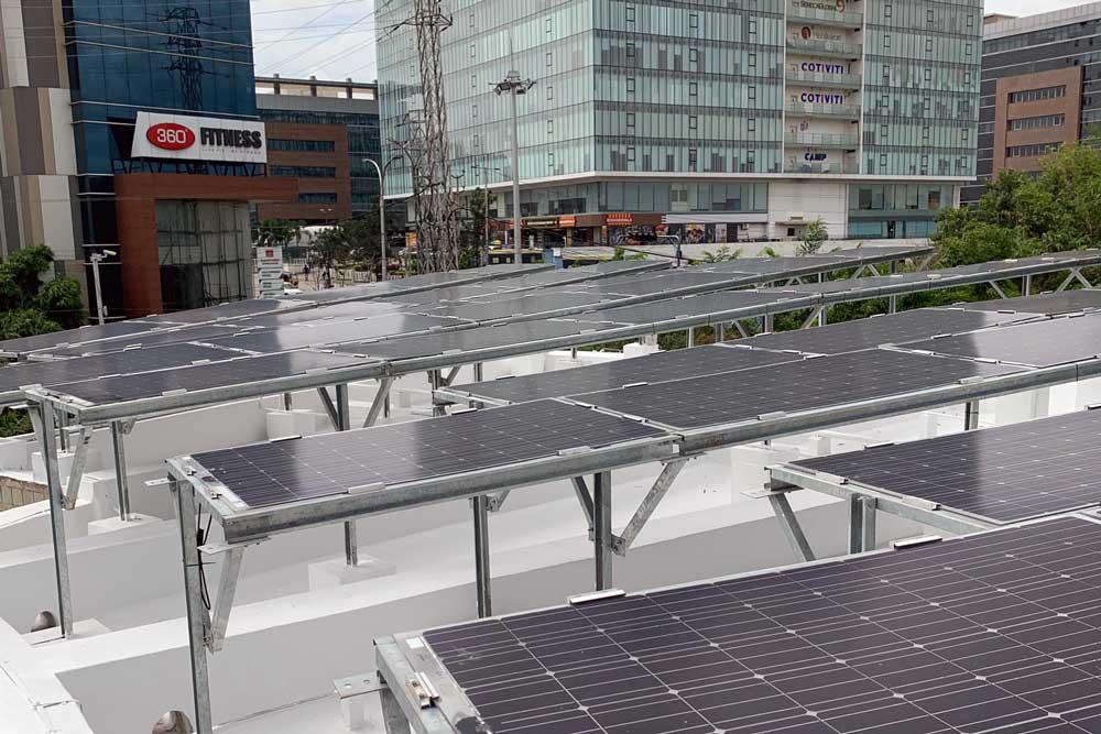 Solar panels. Photo.