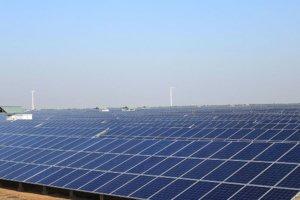 Solar power panels. Photo.
