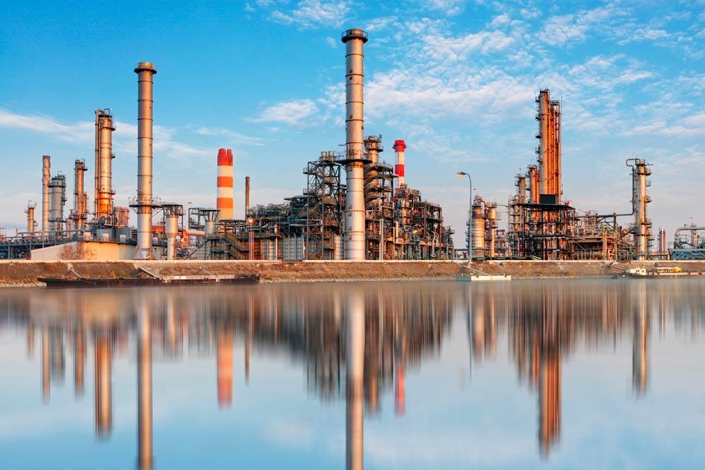 Refinery plant. Photo.