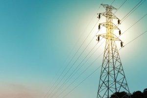 Power lines. Photo.
